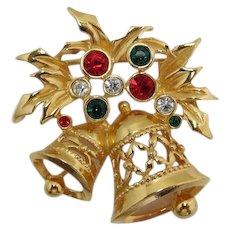 """Avon """"Joyous Bell"""" Christmas Brooch - Book Piece"""