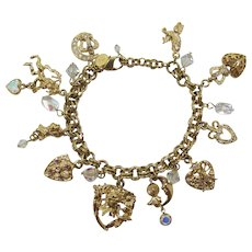 Gorgeous Kirk's Folly Bracelet with Heart Charms
