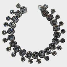 Brilliant Black Diamond Rhinestone Bracelet