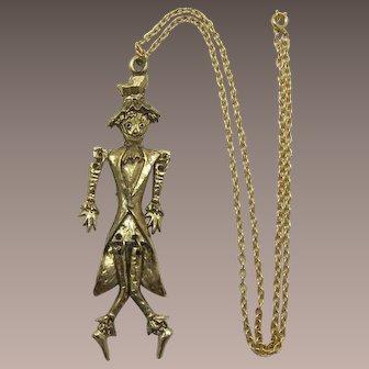Wonderful Dancing Scarecrow Necklace