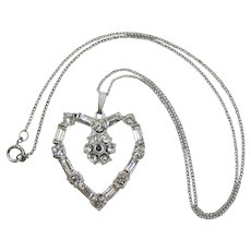 Heart-Shaped Pendant Necklace with Stanhope Lord's Prayer