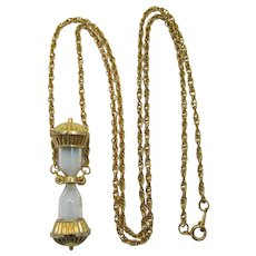 """Avon Necklace with Hourglass Pendant """"Timeless Sands"""" - Book Piece"""