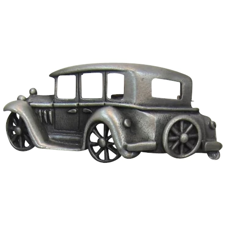 J.J. Jonette Jewelry 1920\'s Al Capone Car Figural Brooch - Red Tag ...