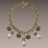 Magnificent Pierre Balmain Couture Necklace with Imitation Pearls