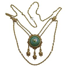 Beautiful Florenza Victorian Revival Festoon Necklace