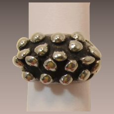 Sterling Silver Artisan Modernist or Brutalist Ring