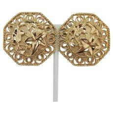 "Barrera for Avon ""Spanish Style"" Gold-tone Earrings"