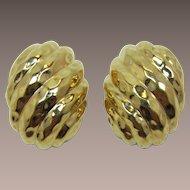 Ciner Bright Gold-tone Earrings on Original Card
