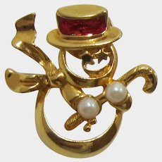 1992 Avon Frosty the Snowman Tack Pin  - Adorable!