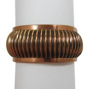 1950's Modernistic Copper Hinged Bracelet