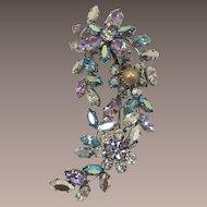 Austria Flower Brooch with Exquisite Swarovski Rhinestones