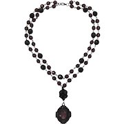 Catherine Stein Renaissance Style Beaded Pendant Necklace