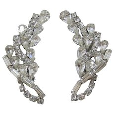 Sparkling Clear Rhinestone Earrings for Special Occasions