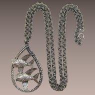 Tortolani Zodiac Pisces Double Fish Pendant Necklace