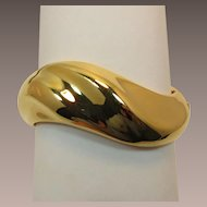 Napier Asymmetrical Gold-tone Hinged Cuff Bracelet
