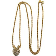 KJL Kenneth Lane Night and Day Heart Pendant Necklace