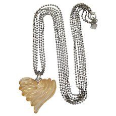 Anne Klein Light Peach Heart Pendant Necklace - Not just for Valentine's Day
