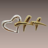 Erwin Pearl Heart and Kisses Brooch