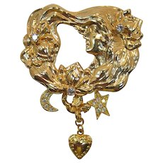 Kirk's Folly Nouveau Style Woman's Face with Detachable Charms