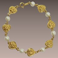 Avon Heart and Imitation Pearl Bracelet - Not just for Valentine's Day