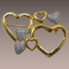 Seven Hearts Brooch for Valentine's Day - LAST CHANCE
