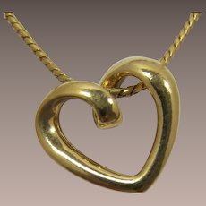Avon Night and Day Heart Necklace