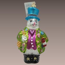 Christopher Radko Easter Bunny with Flowered Coat - Free Shipping