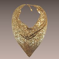 Gorgeous Whiting and Davis Golden Mesh Bib Necklace
