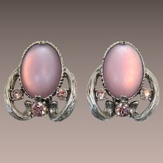Selro Large Lavender Cabochon Earrings