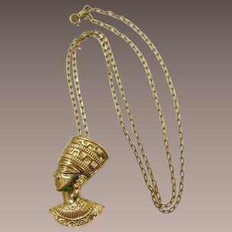Avon King Tut Brooch/Pendant Necklace