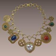DeLizza & Elster Juliana Gold-tone Heavy Charm Necklace