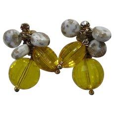 DeLizza & Elster Juliana Topaz Citrine Beaded Earrings