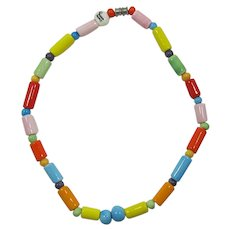 Parrot Pearls Colorful Ceramic Necklace