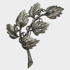 Tortolani Large Branch and Leaf Brooch