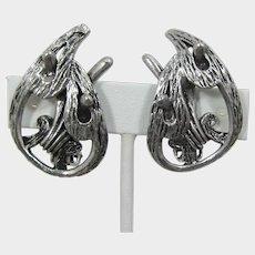 Selini Sculptural Silver-tone Modernist Earrings