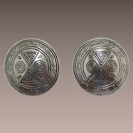 Bold Accessocraft Modernist Large Silver-tone Earrings