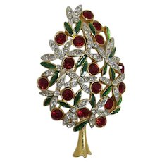 Gorgeous and Opulent Sphinx Christmas Tree Pin - Book Piece + Free Christmas Bracelet