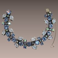 Wonderful Regency Light Iridescent Blue Leaves Bracelet