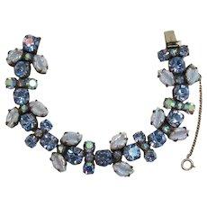 Wonderful Regency Light Iridescent Blue Leaves Bracelet