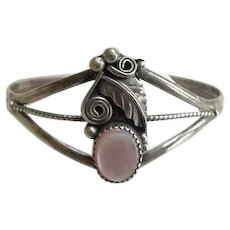 Sterling Silver and Mother of Pearl Cuff Bracelet
