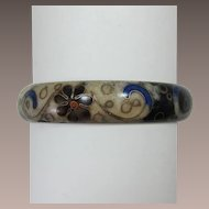 Enameled Bangle Bracelet - Beautiful and Unusual Coloration