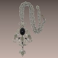 Fab DeLizza and Elster Juliana Elaborate Grapes Necklace - Book Piece - Frank DeLizza's Archives