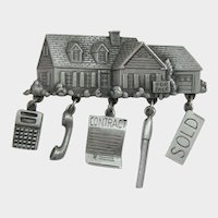 J.J. Jonette Jewelry House for Sale Real Estate Pin