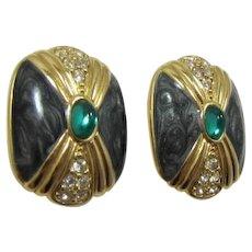 "KJL for Avon ""Duchess Collection"" Pierced Earrings"