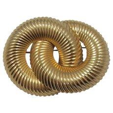 Napier Gold-tone Circles Brooch