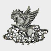 J.J. Jonette Jewelry Pegasus Brooch