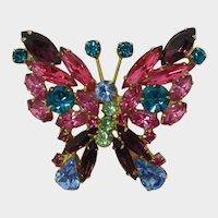 DeLizza & Elster Juliana Multi-colored Butterfly Brooch