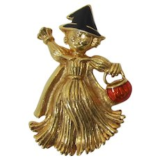 """Avon """"Girl Scarecrow"""" Pin for Halloween - Book Piece"""