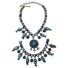 Gorgeous Czechoslovakian Beaded Necklace and Bracelet Set