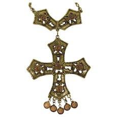 Goldette Renaissance Style Cross Necklace